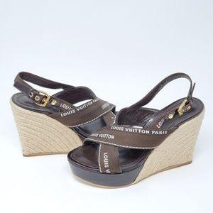 💯 Auth Louis Vuitton Wedge Size 36.5 Excellent
